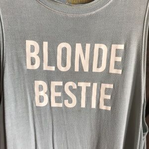 Show me your Mumu blonde tank top baby blue XS